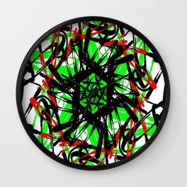 Cartwheel Chaos Wall Clock