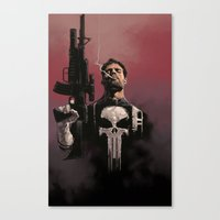 punisher Canvas Prints featuring Punisher by Dave Seguin