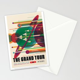 NASA Visions of the Future - The Grand Tour, a Once in a Lifetime Getaway Stationery Cards