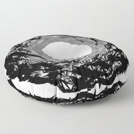 rund 1 - the abyss Floor Pillow