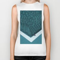 silent Biker Tanks featuring Blue Silent by Andrea Dalla Barba