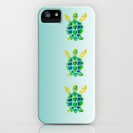 Swimming Baby Sea Turtles iPhone Case
