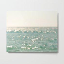 beach. bokeh sparkle. ocean. La Mer Metal Print