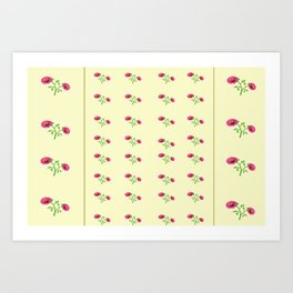 stand in line flowers Art Print