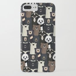 Bears of the world pattern iPhone Case