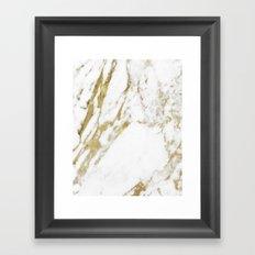 Gold vein marble Framed Art Print