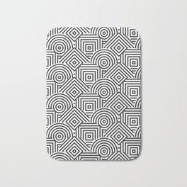 Black and white Geometric design Bath Mat