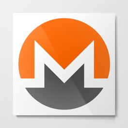 Monero Cryptocurrency Metal Print
