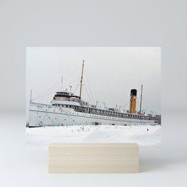 SS Keewatin in Winter White Mini Art Print