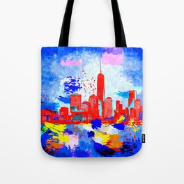 NYC Grunge Skyline Tote Bag