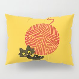 Fitz - Happiness (cat and yarn) Pillow Sham