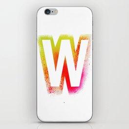 Unconventional alphabet iPhone Skin