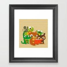 Sharing is Caring Framed Art Print