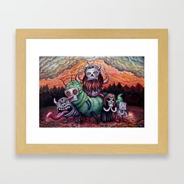 Black Storm On The Rise Framed Art Print