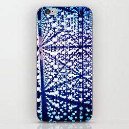 The madness of blue marbles iPhone Skin