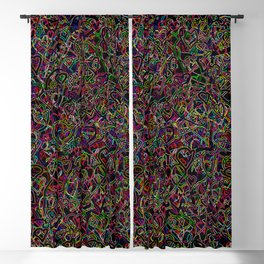2 edged hearts Blackout Curtain