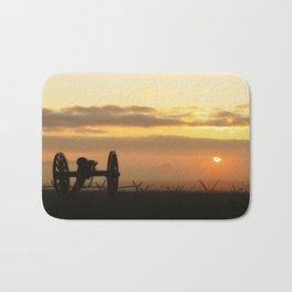 Sunrise on a foggy Battlefield Bath Mat
