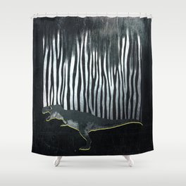 zebrex - the tyrex who wanted to become a zebra  Shower Curtain