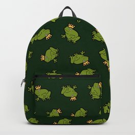 Frog Prince Pattern Backpack