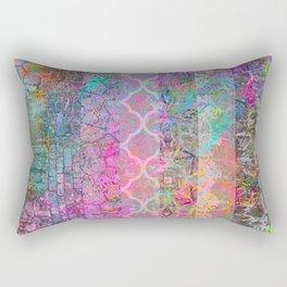 Pastel Boho Grunge Rectangular Pillow