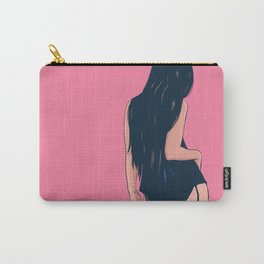 Brunette in black Carry-All Pouch