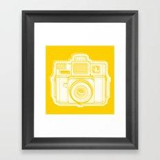 I Still Shoot Film Holga Logo - Reversed Yellow Framed Art Print