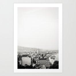 Monochrome City Art Print