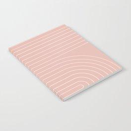 Minimal Line Curvature - Vintage Pink Notebook