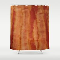 bacon Shower Curtains featuring BACON by ....