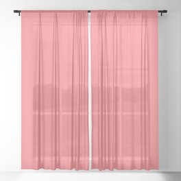 Summer Tropical Coral Sheer Curtain
