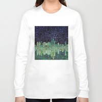 dallas Long Sleeve T-shirts featuring Dallas city skyline by Bekim ART