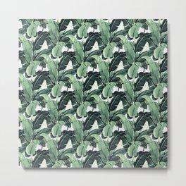 Tropical Banana Leaf Metal Print