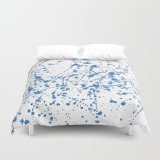 Splat Blue on White Duvet Cover