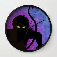 nightcrawler Wall Clocks featuring Nightcrawler by Sprite