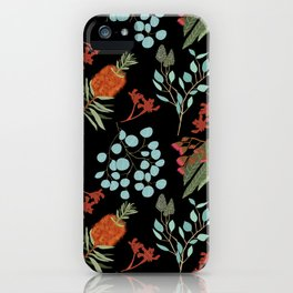 Australian Botanicals - Black iPhone Case