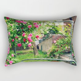 Flowers Blossoming on the Gate Rectangular Pillow