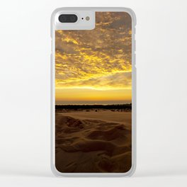 Michigan Sunset off Lake Michigan from Silver Lake Sand Dunes Clear iPhone Case