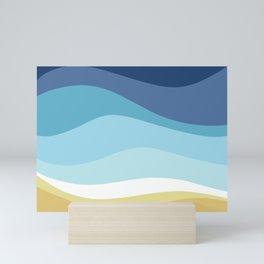Blue Ocean Waves ! Mini Art Print