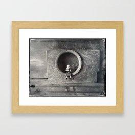 House Disaster Art -  A Portrait Framed Art Print
