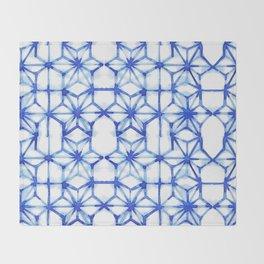 Abstract geometric star Throw Blanket