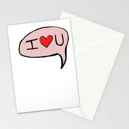 I <3 U Stationery Cards