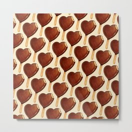 Ice Cream Pattern - Heart Metal Print