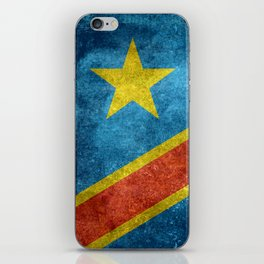 National flag of the Democratic Republic of the Congo, Vintage version (to scale) iPhone Skin