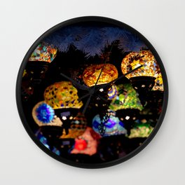 lanterns - night lights Wall Clock