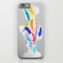 A Grecian Bust With Color Tests iPhone Case