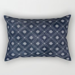 Blue Indigo Pattern Rectangular Pillow