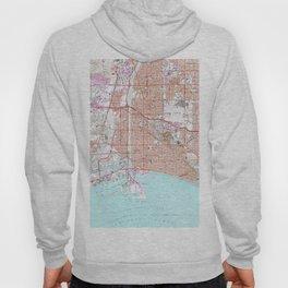 Vintage Map of Long Beach California (1964) Hoody