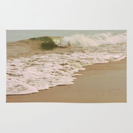 Ocean Waves on the Beach Rug