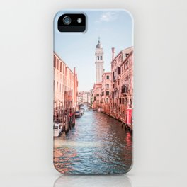 Venice During Magic Hour | Europe Italy City Travel Photography of Venice Canals iPhone Case