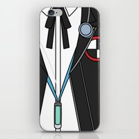 persona iPhone & iPod Skins featuring Persona 3 Protagonist Uniform by Bunny Frost